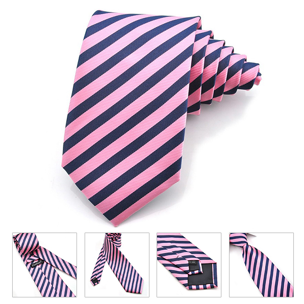 PenSee Mens Tie Silk Classical Twill Stripes Necktie-various Colors Accessory