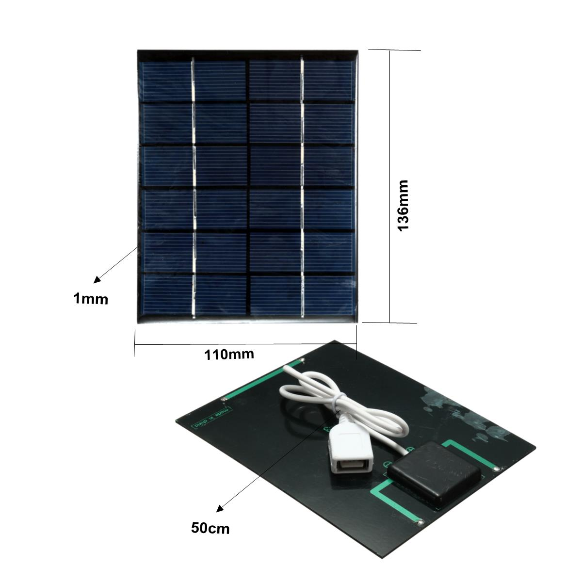 2W 6V Mini Solar Panel Module With Battery Charger For Mobile Phones MP3 MP4