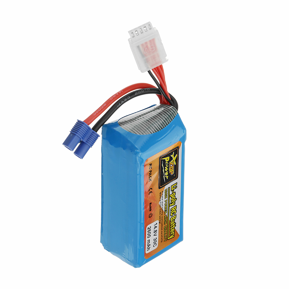 ZOP Power 14.8V 2600mAh 30C 4S Lipo Battery EC3 Plug