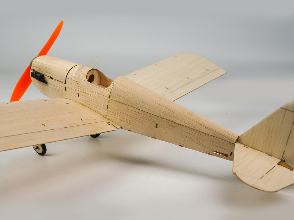 Mini Balsa Wood RC Airplane Model K9 Spacewalker Indoor/Park Fly 380mm Wingspan Aircraft Model Kits - Photo: 8