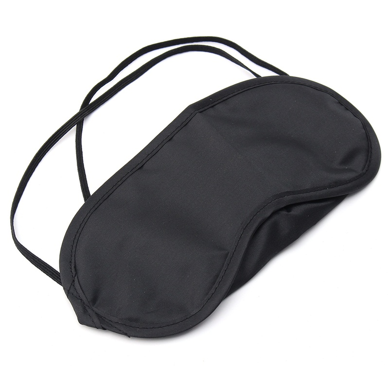 Sleeping Eye Patch Travel Eyeshade Cover Rest Aid Mask Black