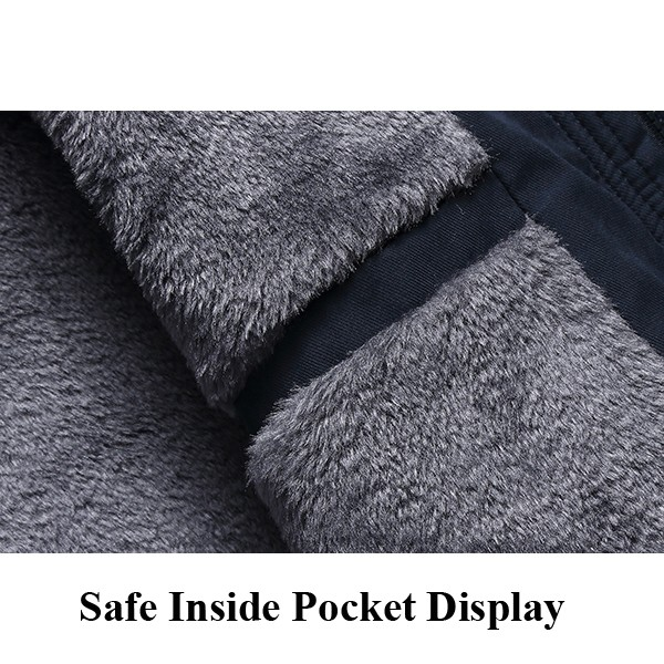 Mens Coat Hat Removable Large Code Multi Pocket Loose Winter Fashion Business Casual Clothing