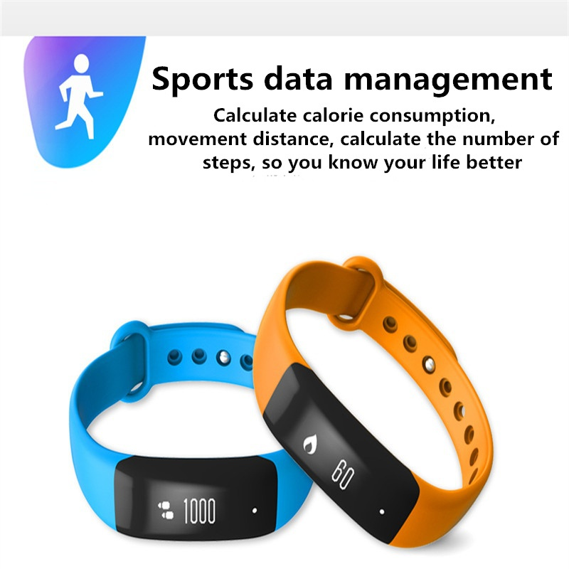 0.86 inch Heart Rate Fitness Tracker Sleep Monitor Smart Bracelet Wristband for Mobile Phone