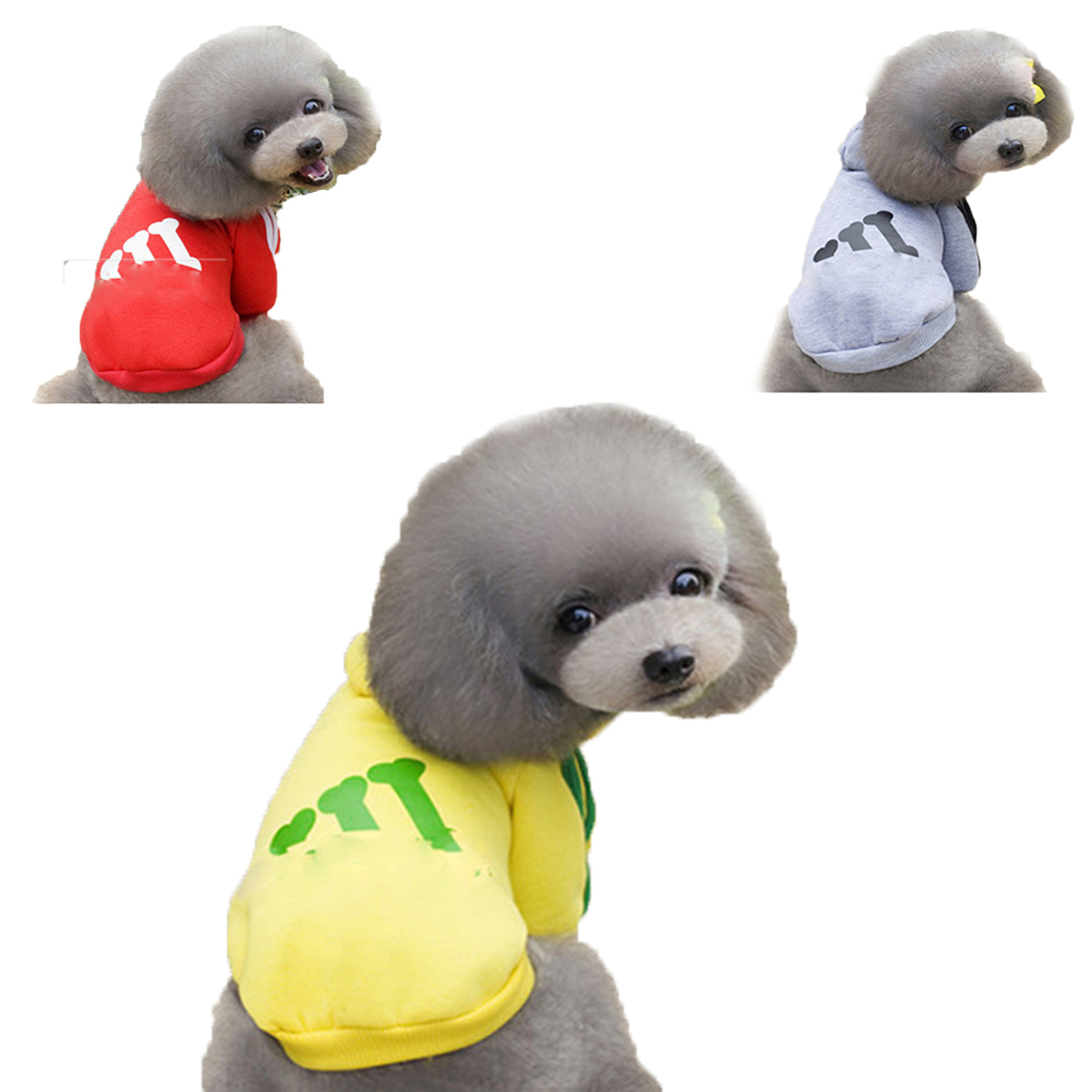 Pet Dog Puppy Cotton Winter Coats HoodieTwo-Legs Clothes With Hat Sport Style