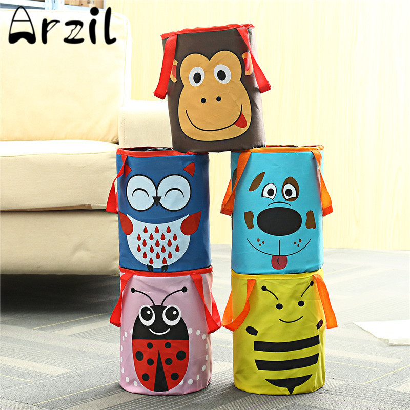 Foldable Cartoon Oxford Car Garbage Cans Portable Rubish Trash Bin Multifunctional Storage Bucket