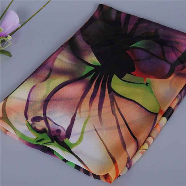 Women Ladies Long Soft Silk Chiffon Scarf Wrap Shawl Beach Scarves