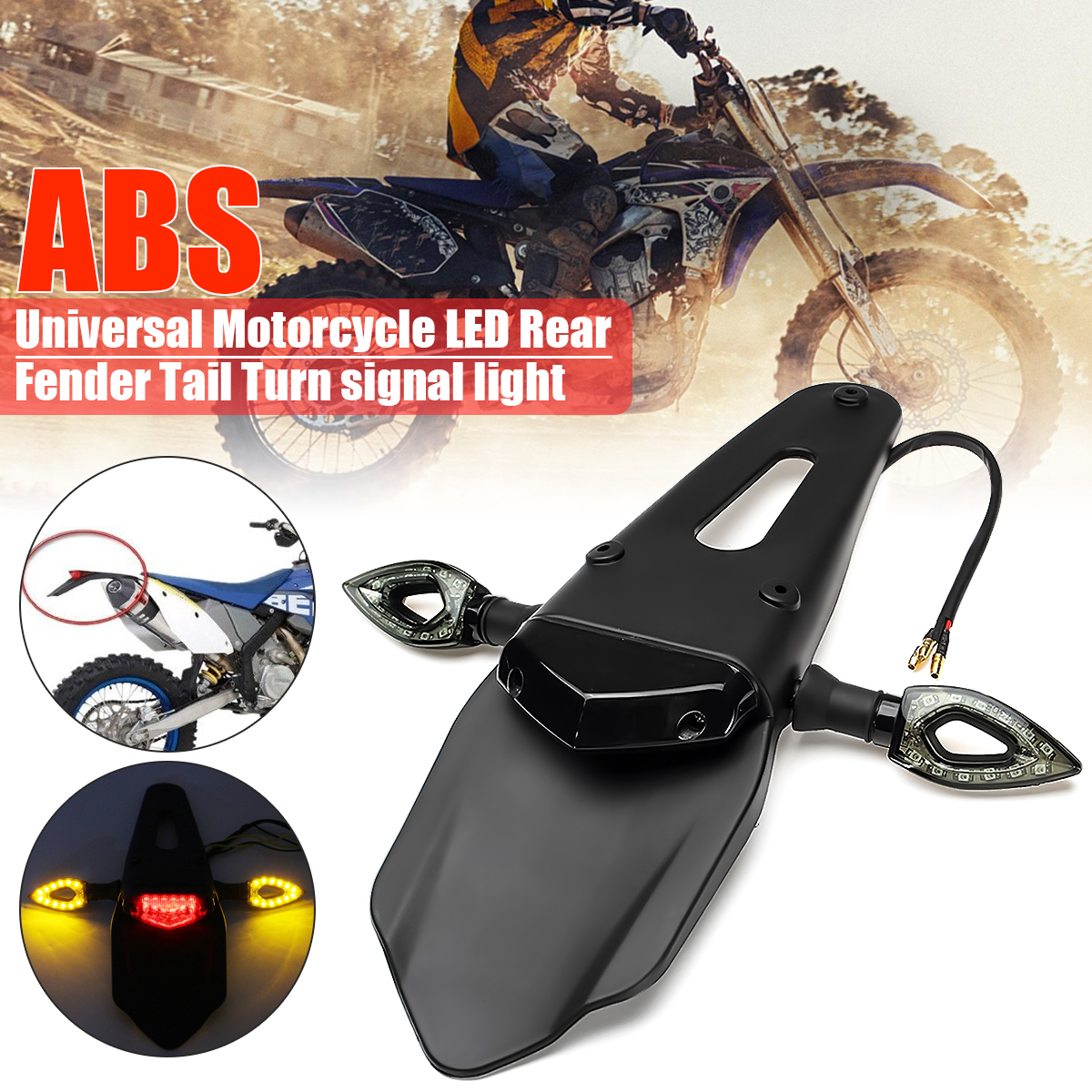 12V LED Enduro Fender-Brake Tail Light Turn Signal Light For Motorcycle Dirt Bike
