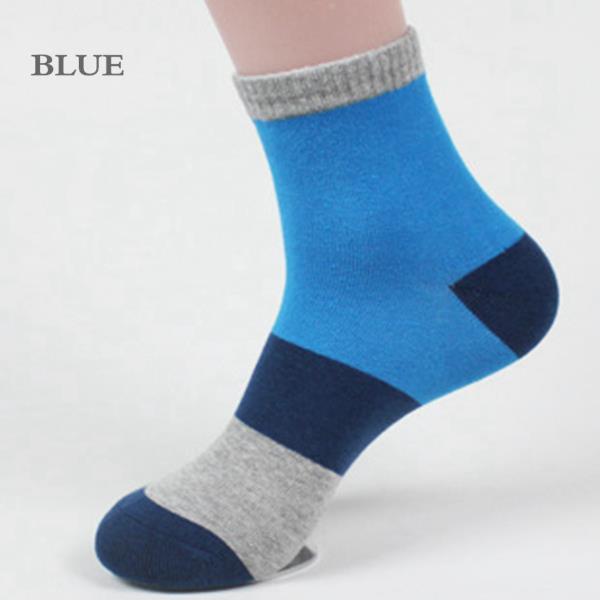 Mens Splicing Color Soft Cotton Casual Socks