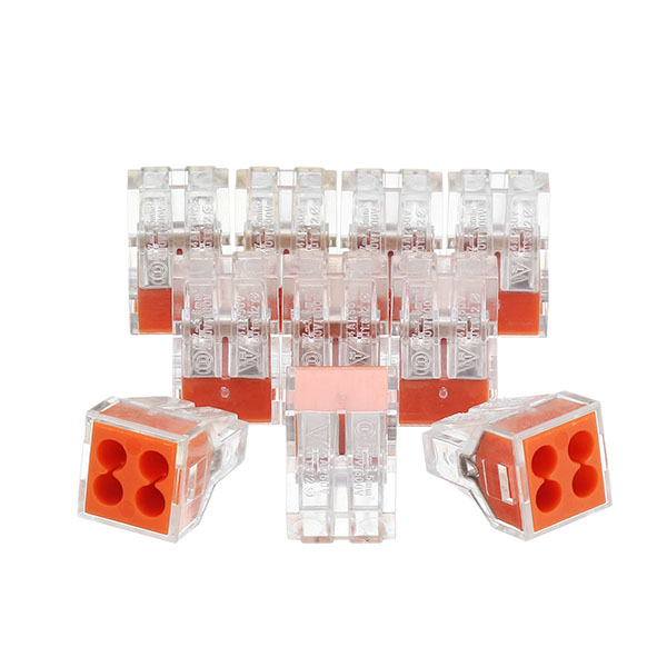 10Pcs 4 Pins Wire Connector Flame Retardant Fast Spring Terminal Block Electric Cable Connector