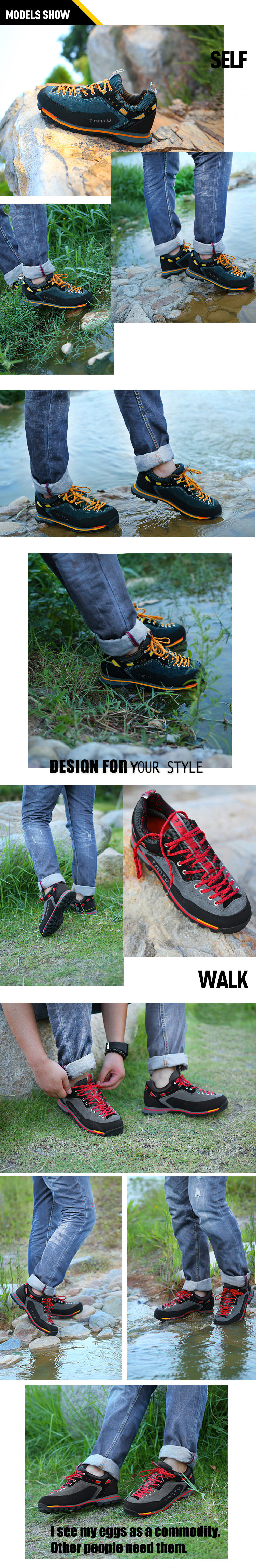 Outdoor Hiking Climbing Shoes Breathable Waterproof Wear-resistant Running Camping Leisure Shoes