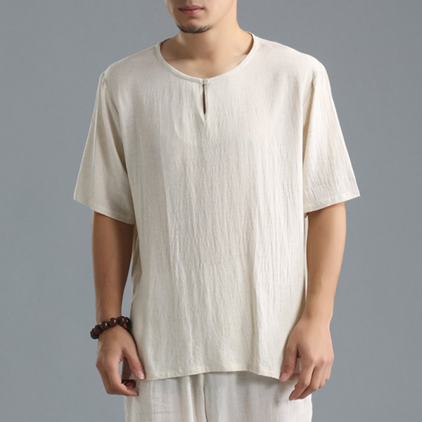 Charmpkr Chinese Style Vintage O-neck Half Sleeve T-Shirts