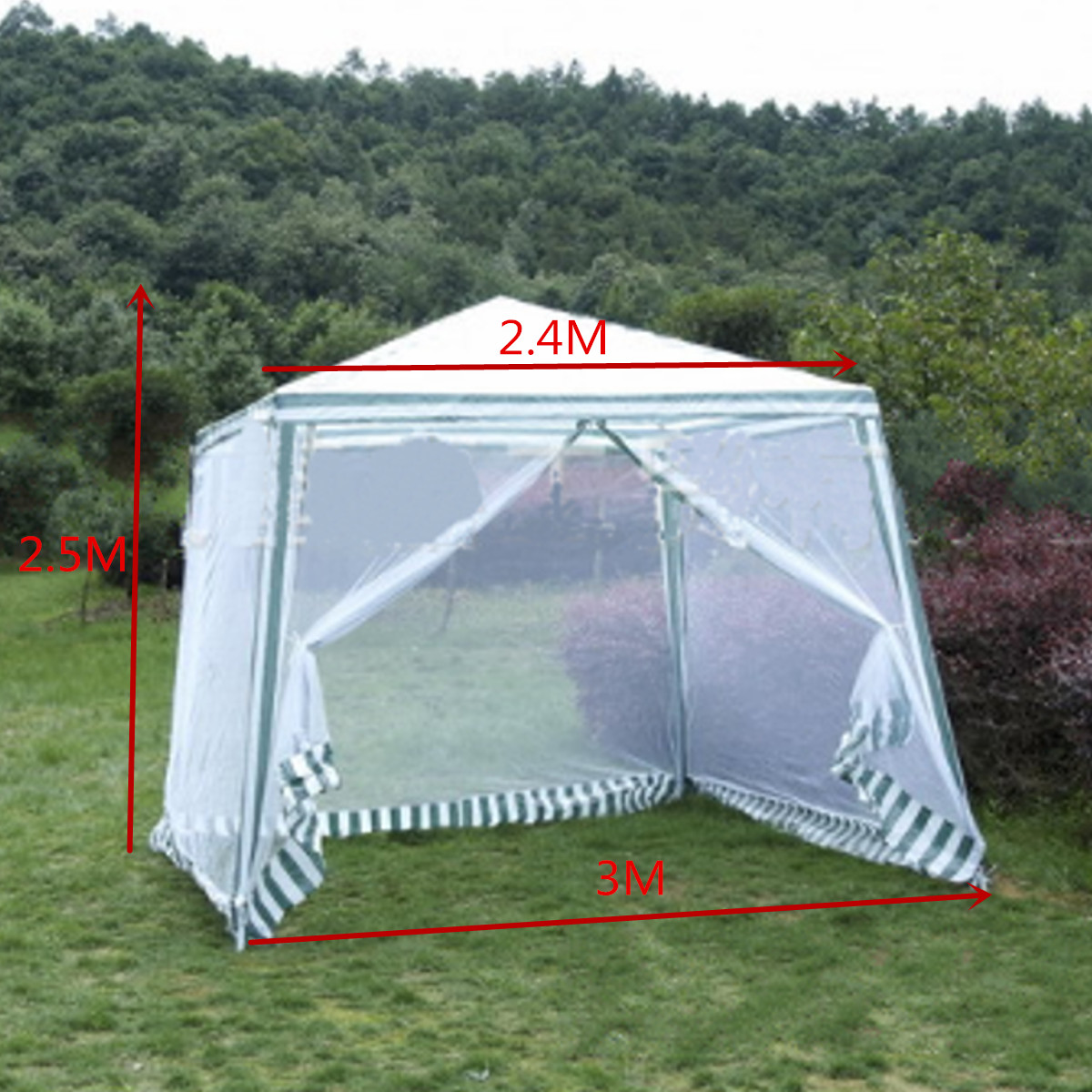 Outdoor Sun Shade Awning Large Summer Beach Party Camping Sun Tent Waterproof Folding Gazebo Canopy