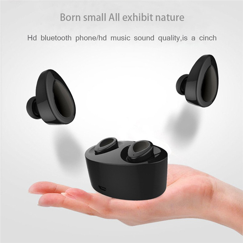 TWS Mini In-Ear Double Black Wireless bluetooth Stereo Headset Earbuds With Microphone