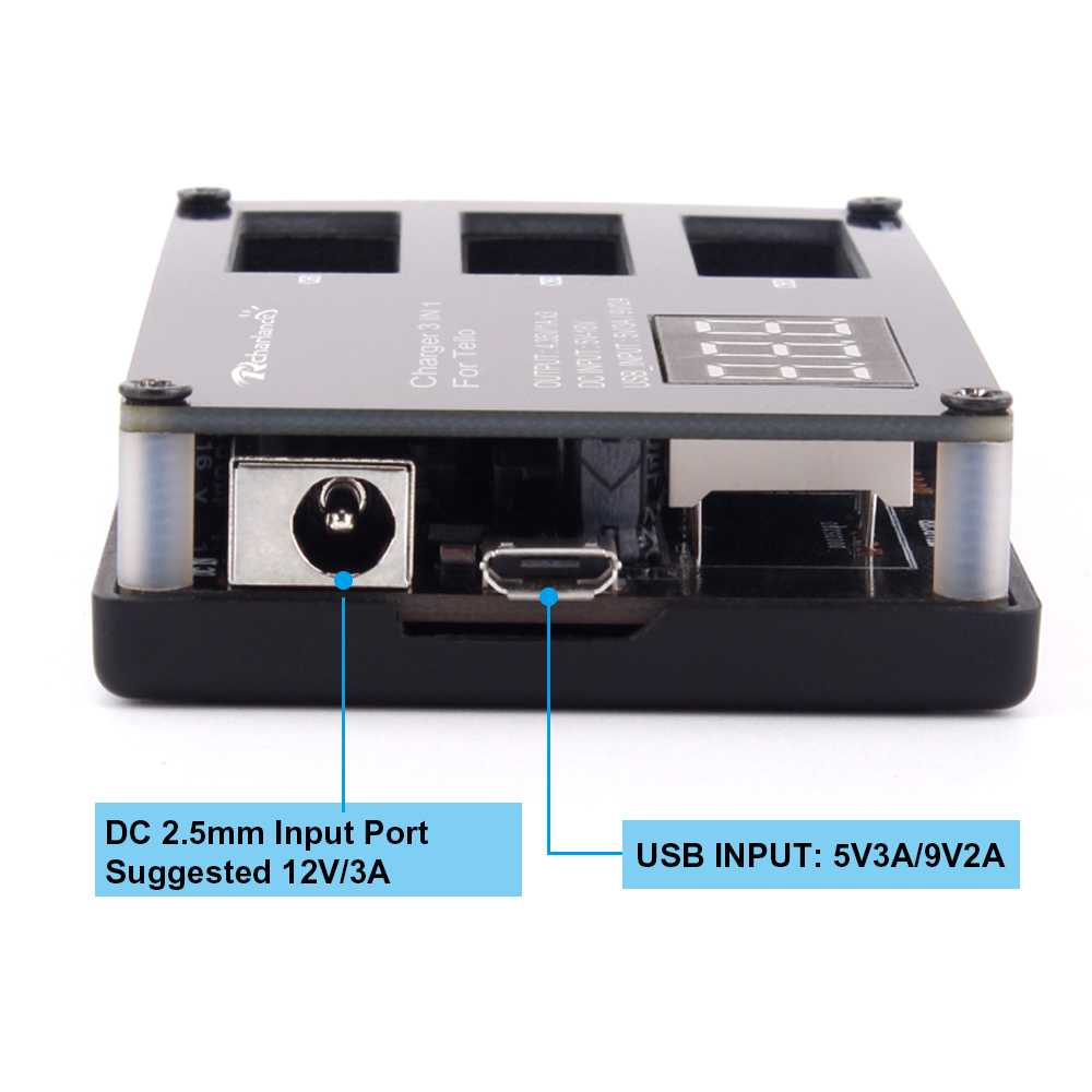 Battery Charger 12V/3A DJI Tello Drone 3 in 1