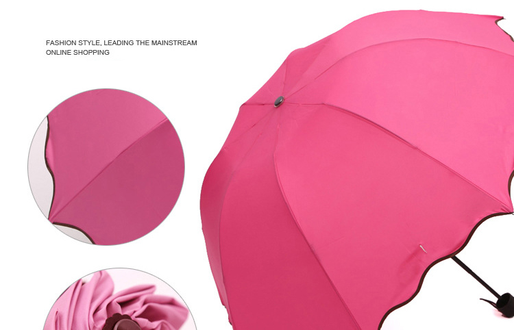 Magical Bloom Flower Changing Umbrella Rain Water Windproof Sunshade Rain Snow Umbrella