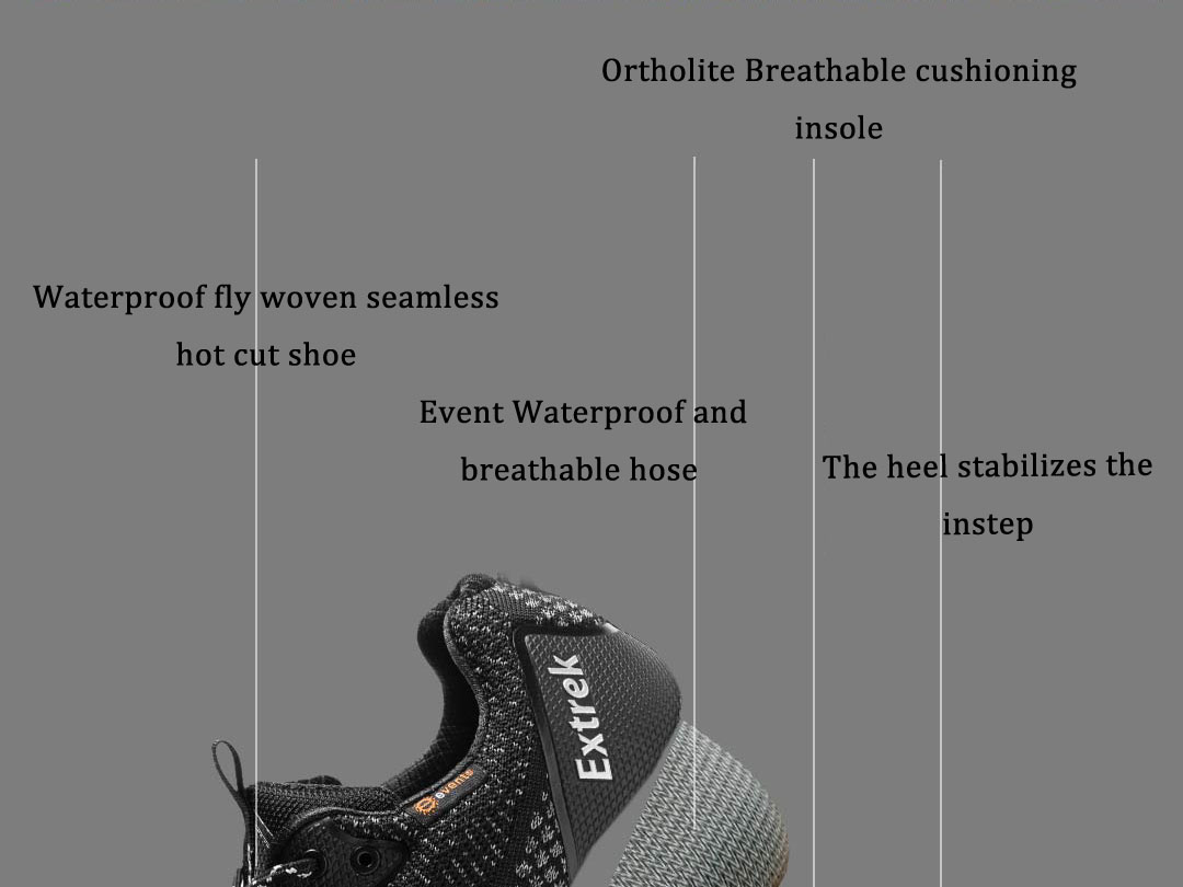 EXTREK Fly Knit Men Sneakers Waterproof Breathable Non-slip Shock Absorption Hiking Shoes Ultralight Sport Running Shoes from xiaomi youpin