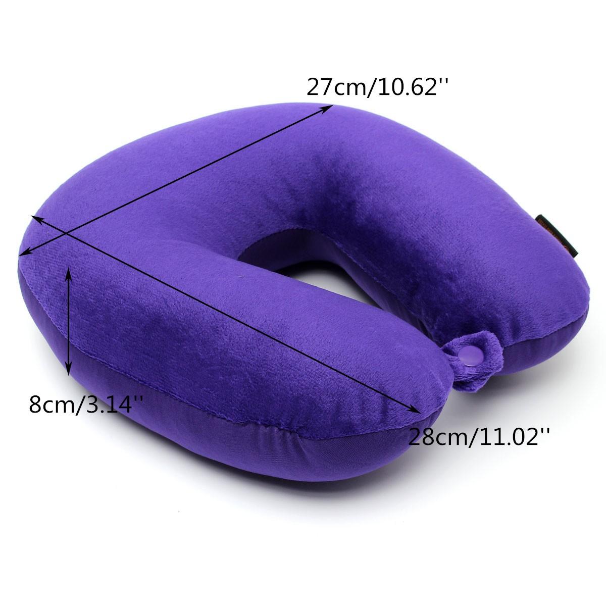 Memory Foam Particles U Shape Neck Head Rest Pillow Car Flight Travel Soft Nursing Cushion