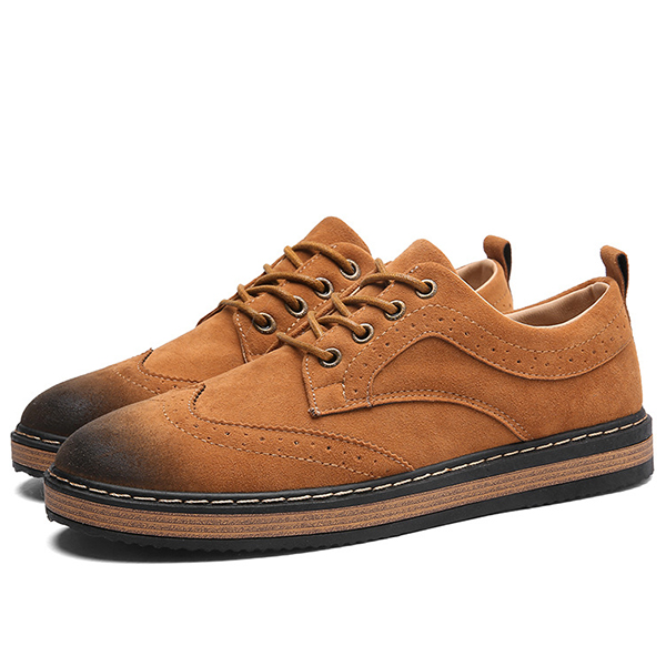 Men Comfortable Casual Business Brogue Style Oxfords Shoes