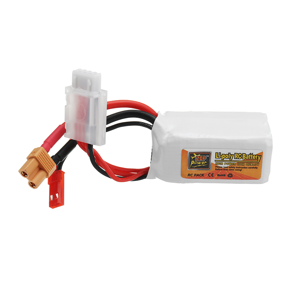 ZOP POWER 11.1V 550mAh 70C 3S Lipo Battery With JST/XT30 Plug For RC Models
