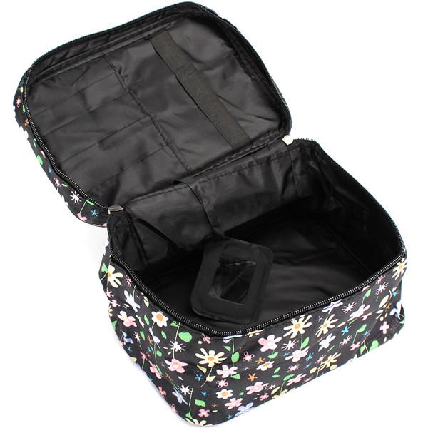 Makeup Bag Flower Lips Dot Travel Storage Case Toilety Cosmetic Bag Organizer