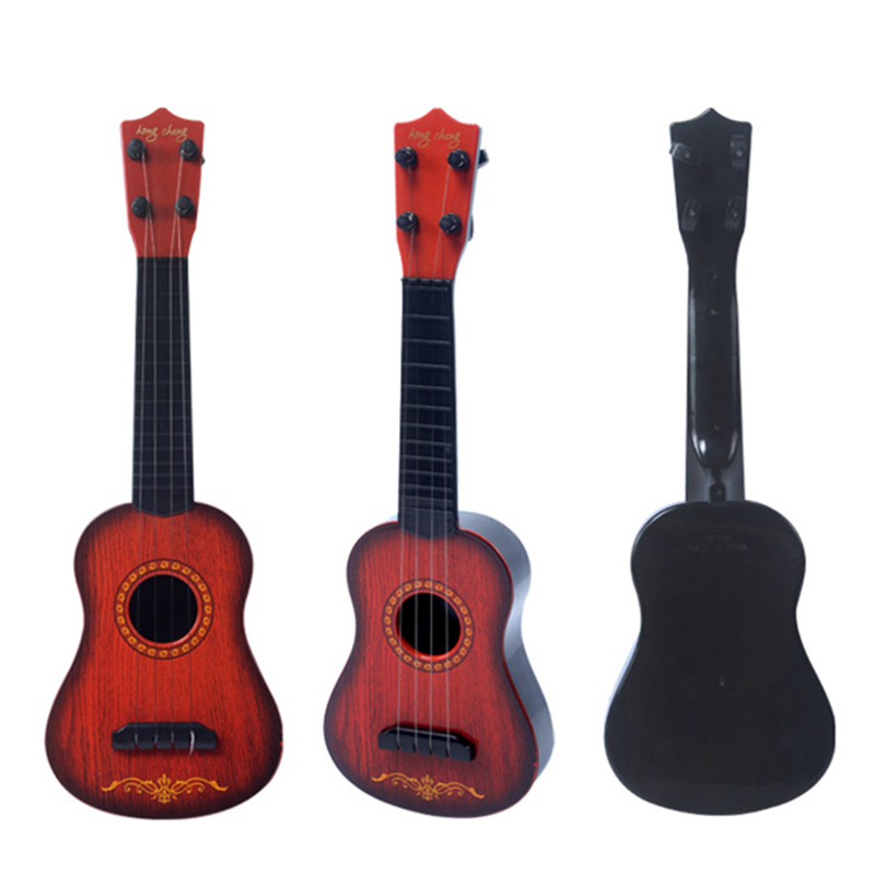 17 Inch Children Educational Plastic Ukulele Musical Toy Four Strings for Kids