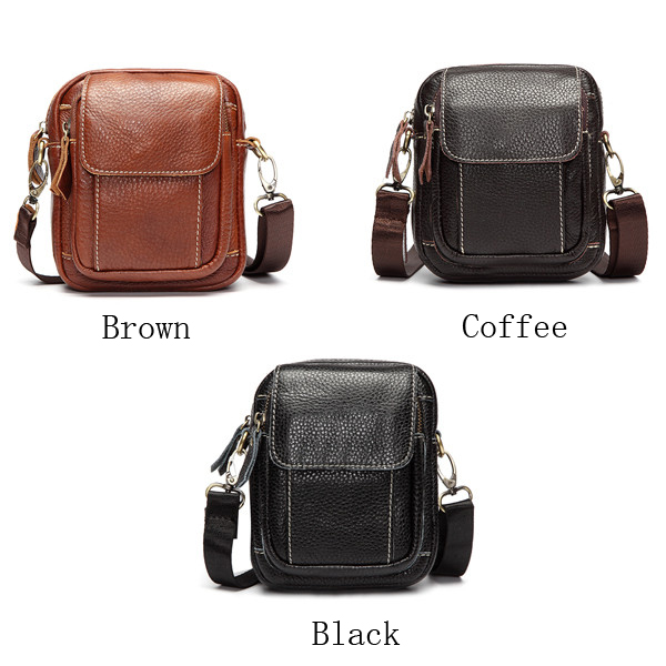 Men Women Genuine Leather Vintage Crossbody Bag Waist Bags Shoulder Bags