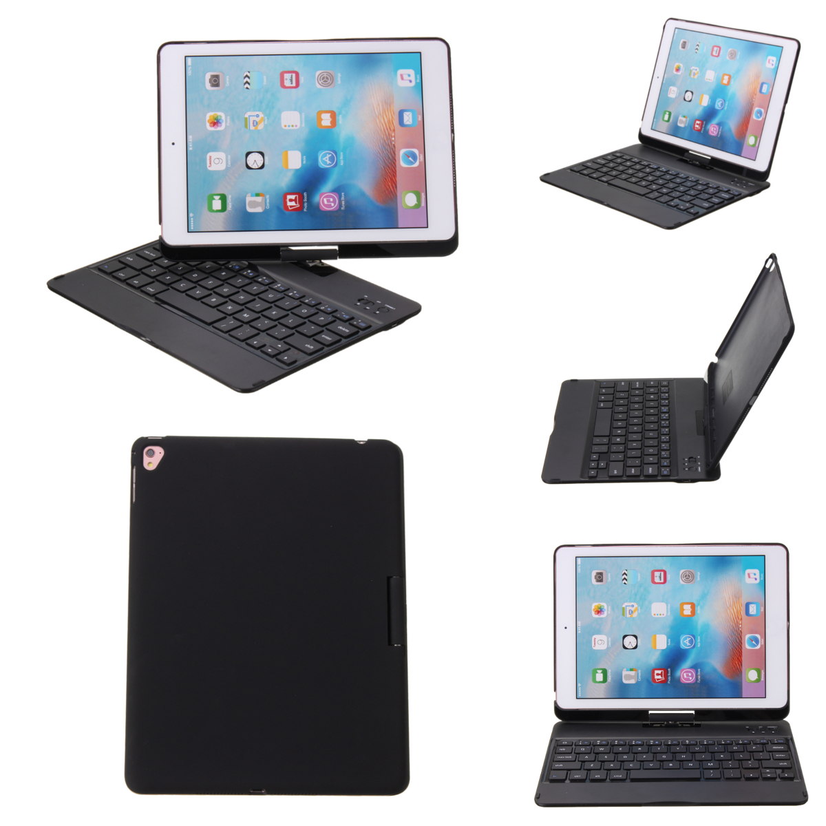 360° Rotation Ultra Thin bluetooth Keyboard Protective Cover Case for iPad Air 2