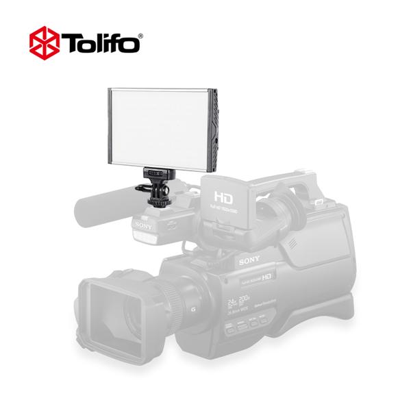 Tolifo PT-15B Aluminum Alloy Bi-color LED Video Camera Photography Light for DSLR Camcorder