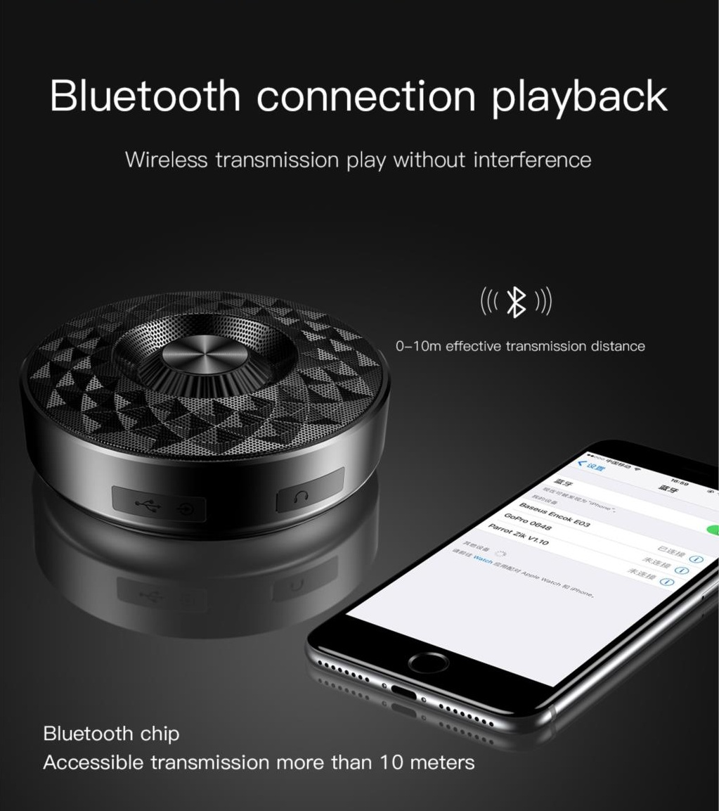 Baseus E03 Wireless bluetooth Speaker Portable Outdoors IP4 Waterproof Subwoofer for iPhone Xiaomi