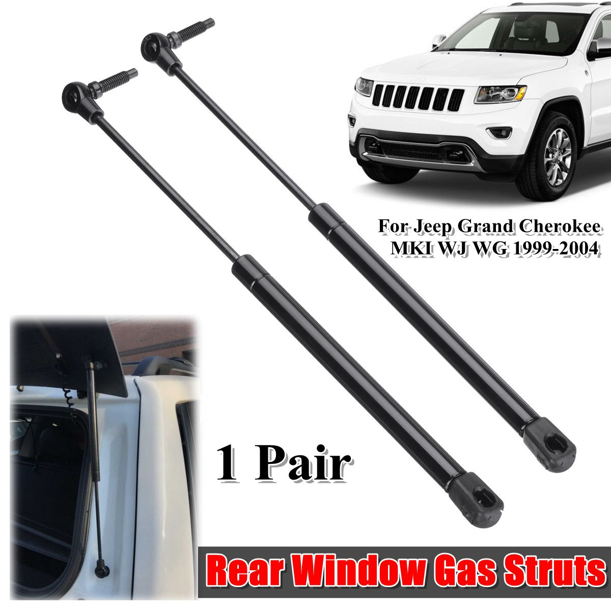 2 X Rear Window Glass Gas Struts Support Car Supports Shock For Jeep Grand Cherokee WJ WG 1999-2004