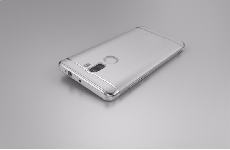 Luxury Plating Frame Splicing PC Hard Back Case For Xiaomi Mi 5s Plus