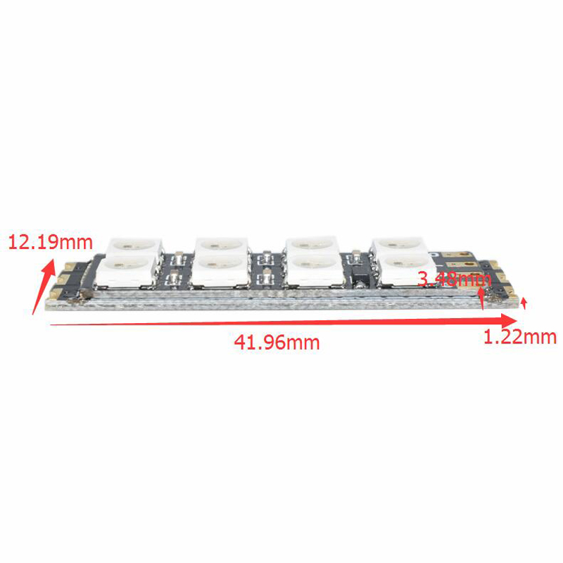 WS1812B LED Strip Light Board 80A 3.3-5.5V for FPV Racing ARM Wire Programming 2.6g