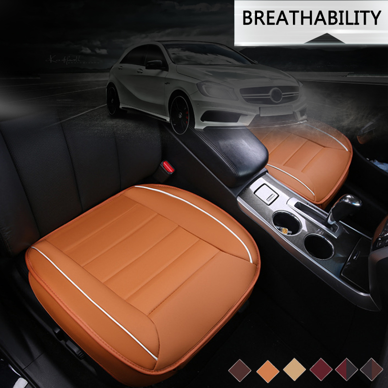 49*53cm 3D PU Leather Car Front Breathable Seat Cushion Cover Pad Auto Chair Protect Mat