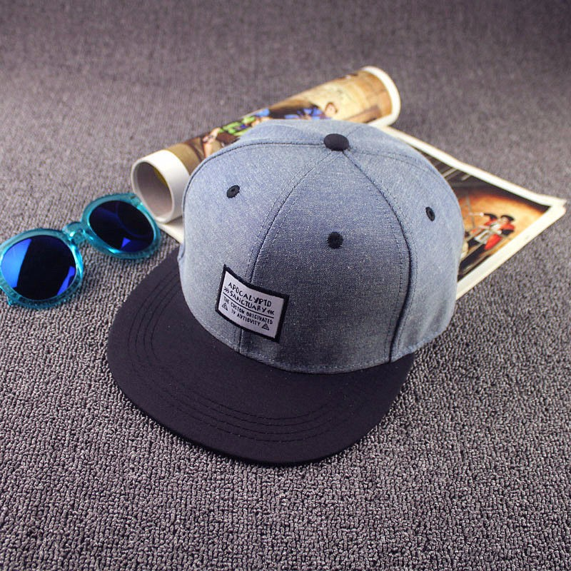 Men Women Snapback Baseball Flat Brimmed Hat Caps Adjustable Skateboard Hip-hop Hats