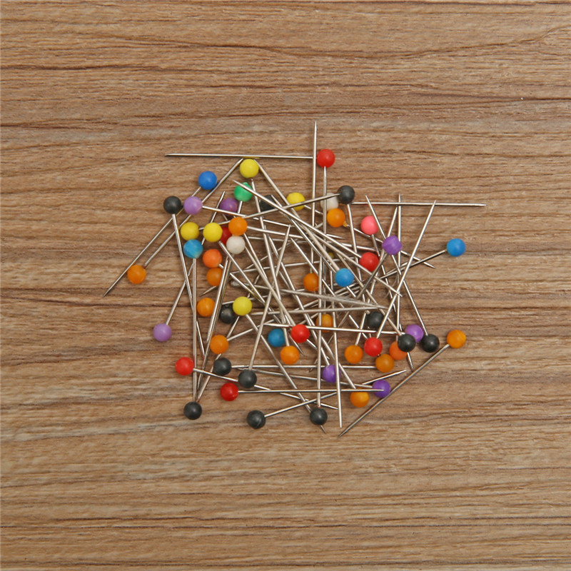 50pcs Ball Head Sewing Pins Multicolor Dressmaking Wedding DIY Craft Jewelry Quilting Pins 26mm