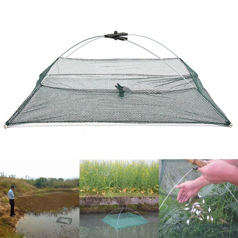 ZANLURE Protable Folded Fishing Net Small Fish Shrimp Minnow Crab Baits Cast Mesh Net