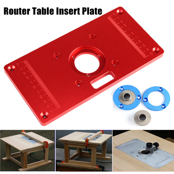 Multifunctional Red Aluminium Alloy Router Table Insert Plate For Woodworking Engraving Machine