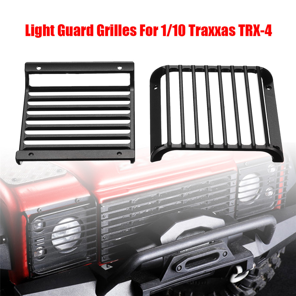 2PC Front Light Guards Grille Lampshade For TRAXXAS TRX-4 TRX Land Rover Defender 1/10 Rc Car Parts