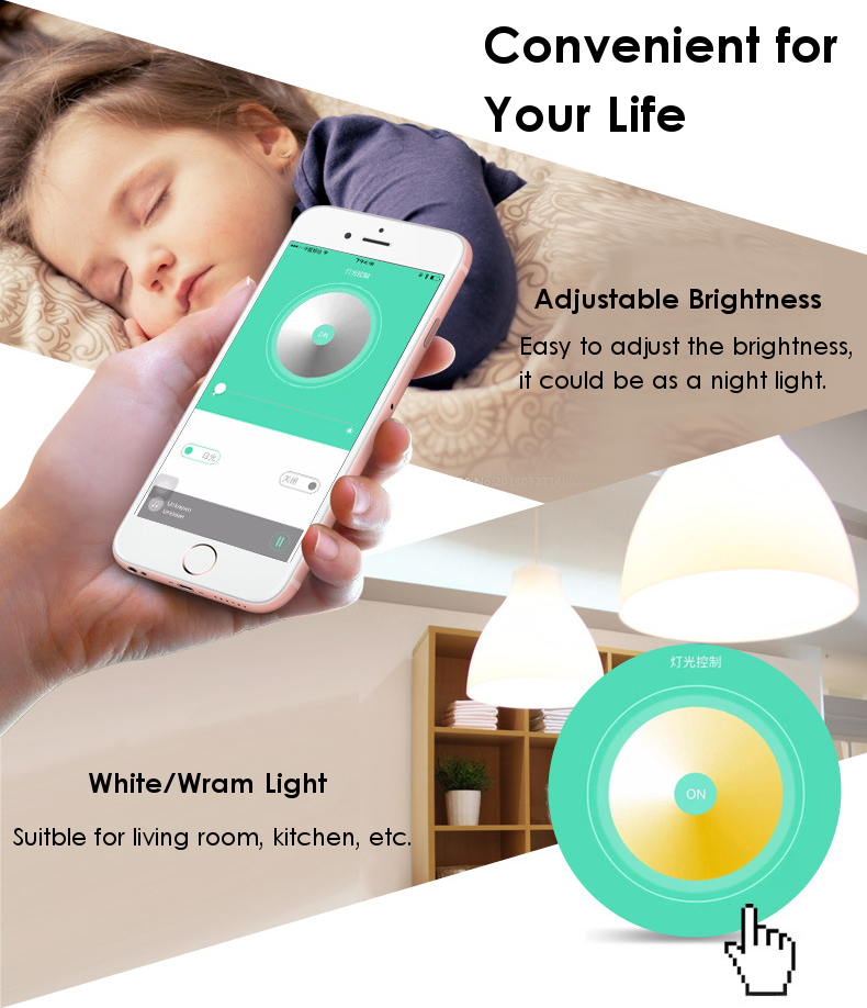 S30 LED Bulb Lamp App Control Timing Function Night Light bluetooth Speaker