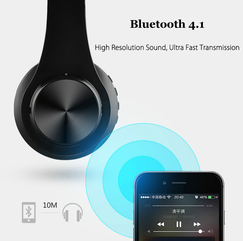 Bakeey™ B3 Light Weight HIFI Powerful Bass bluetooth Wireless Over Ear Headphones with Mic
