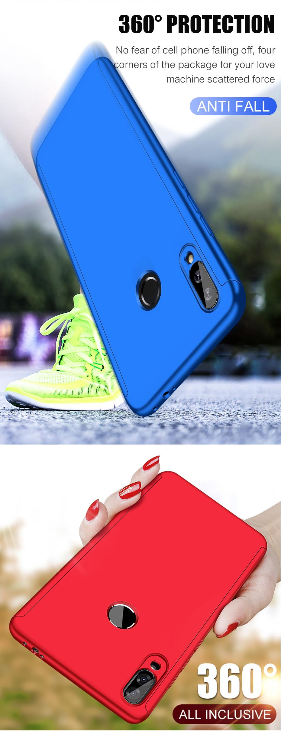 Bakeey 360° Full Body PC Front+Back Cover Protective Case With Screen Protector For Samsung Galaxy A50 2019