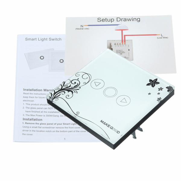 UK Standard Wall Mount Touch Dimmer Switch Panel Switches