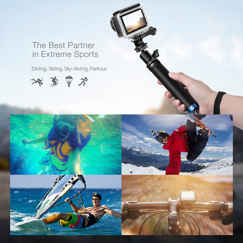BlitzWolf® BW-BS0 Hand-held Mini Extendable Selfie Stick Monopod For Smartphone Sport Camera