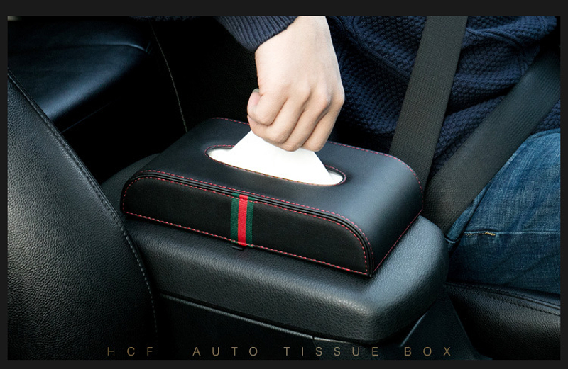 Car Microfiber Leather Handrest Tissue Box Napkin Pumping Paper Portable Office Paper Holder Case