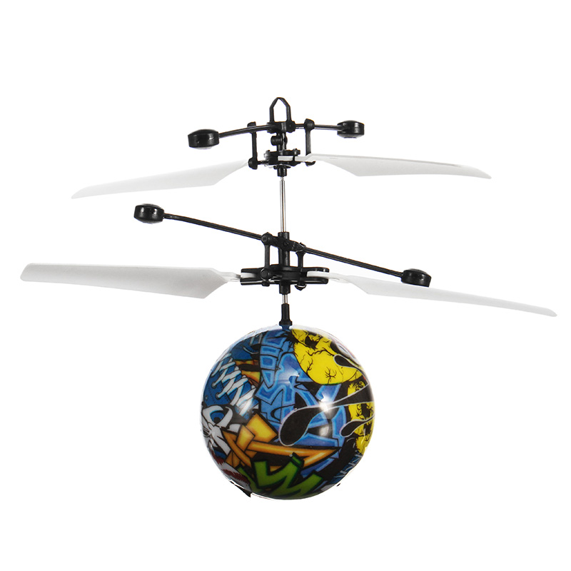 Hand Induction Aircraft Flying Random Painting Flashing Helicopter Toy for Kids