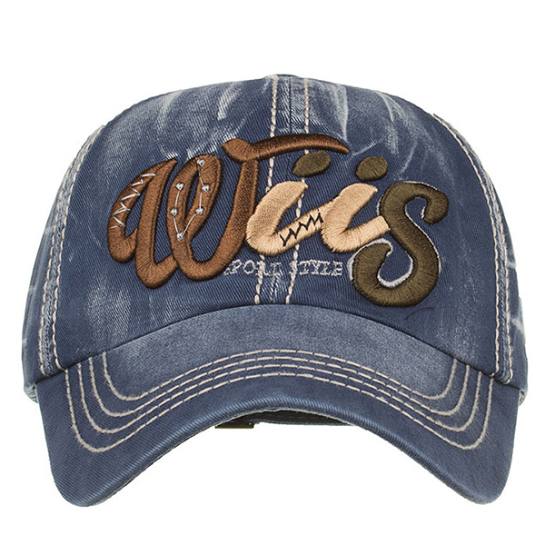 Men Denim Letter Pattern Sunshade Baseball Cap