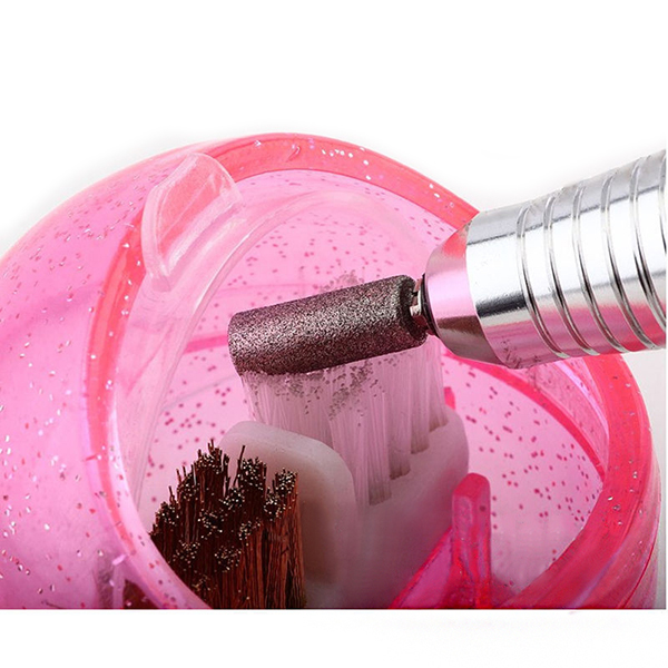 Dual Purpose Nail Drill Bits Cleaning Brush Cleaner Sanding Bands Clean Machine Manicure Tool