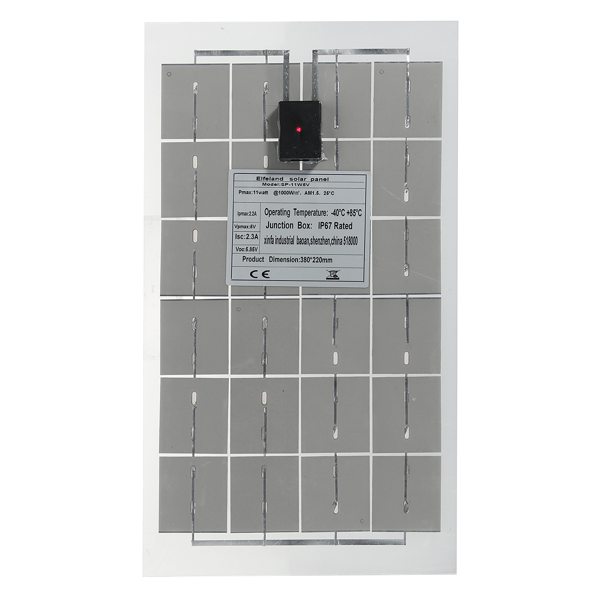 11W 5V Sun Power Solar Panel With USB interface For Home Power Ventilation
