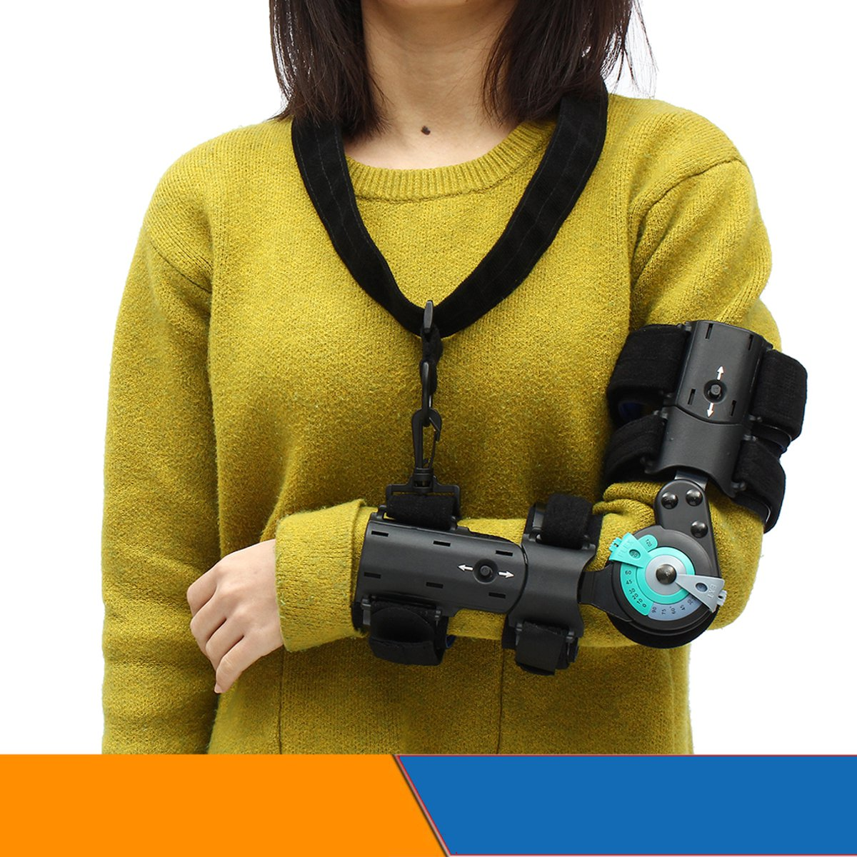 Elbow Orthosis Arm Sling Support Brace Adjustable Fracture F