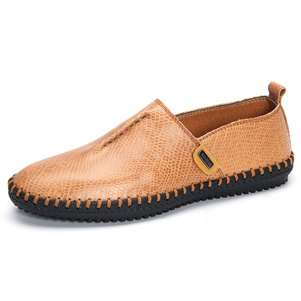 Men Casual Soft Flats Breathable Oxfords Hand-made Shoes